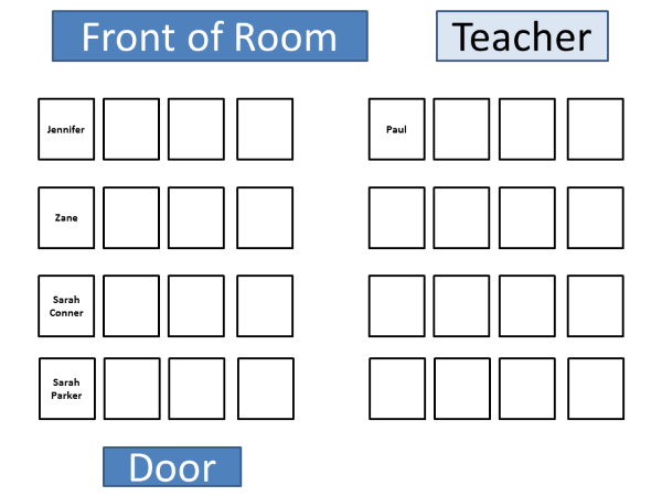 Computer Lab Seating Chart Template – Seating Chart Classroom Template