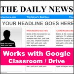 Google Classroom Newspaper Template - Blue