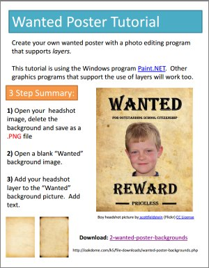 Wanted Poster Tutorial