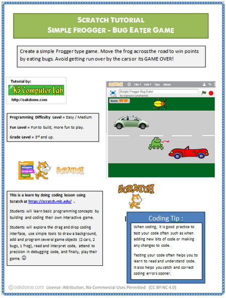 Coding for Kids - Froggy Bug Eater - Scratch Project