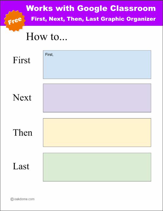 Google Classroom - First, Next, Then, Last, Graphic Organizer | K-5 ...