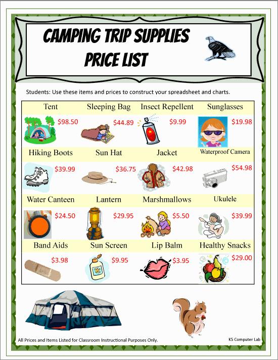 Camping Trip List