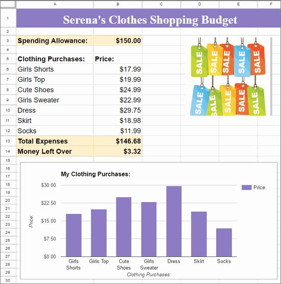 google sheets budget spreadsheet