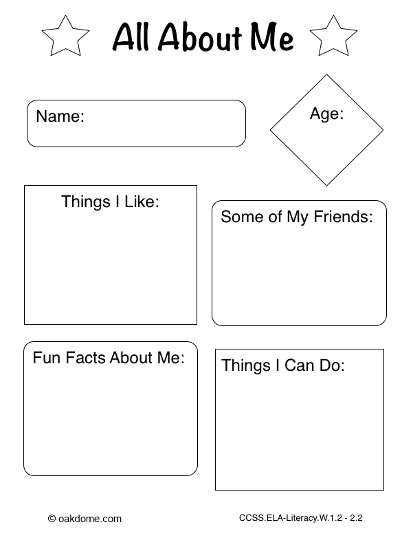 Ipad Graphic Organizer All About Me K 5 Computer Lab
