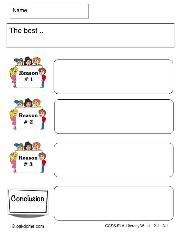 iPad Graphic Organizer - Opinion Template - The Best ..| K-5 Computer ...