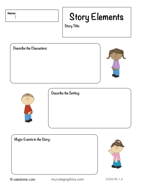 iPad Common Core Graphic Organizer - Story Elements | K-5 Computer Lab