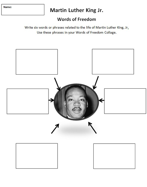 MLK Story Collage Lesson Plan – Martin Luther King Worksheet