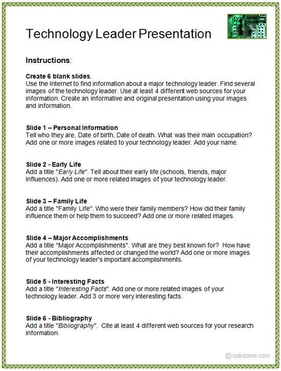 Technology Leader Keynote Presentation iPad Lesson Plan