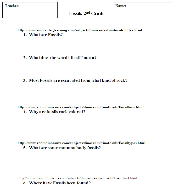 Fossil Worksheets Templates and Worksheets – Fossils Worksheet