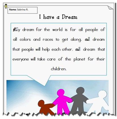 Martin luther king jr lesson plans k 5 computer lab i have a dream template ibookread PDF