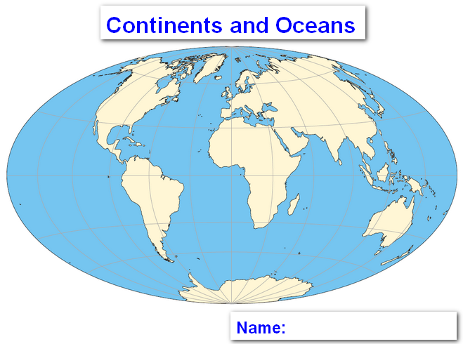 world map labeled continents Katy Perry Buzz