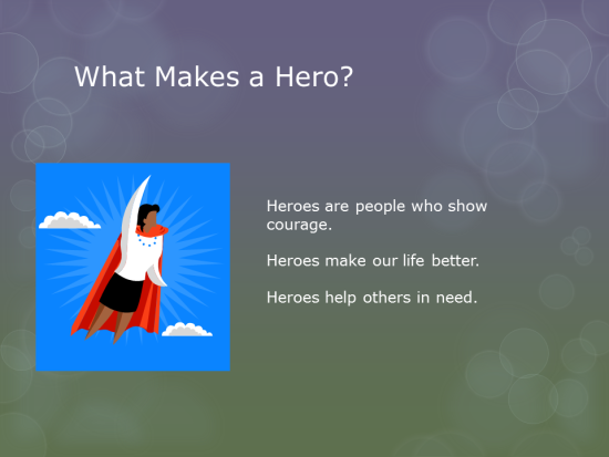 community heroes powerpoint k5 computer lab technology