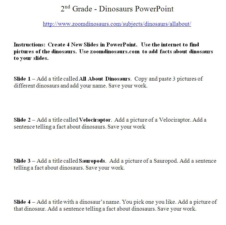 dinosaur powerpoint activity