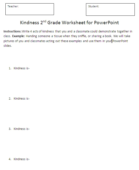 Kindness - PowerPoint Activity | K-5 Computer Lab Technology Lessons