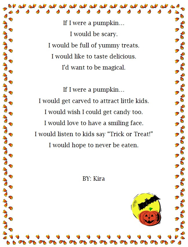 Halloween Pumpkin Personification Poem Generator K 5 Computer Lab