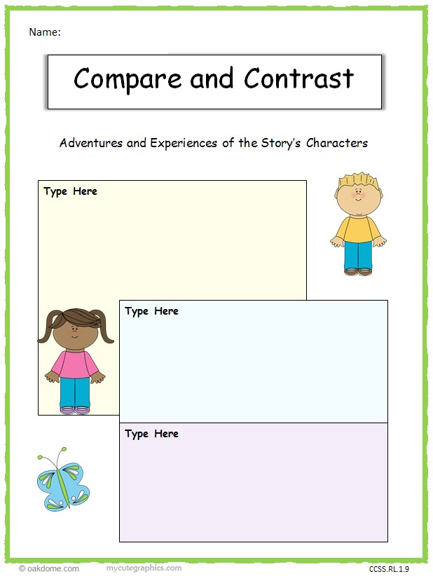 rubric for a compare and contrast essay