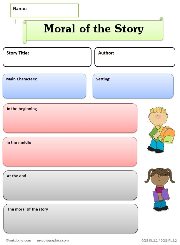Graphic Organizer Central Message Lesson Learned Moral
