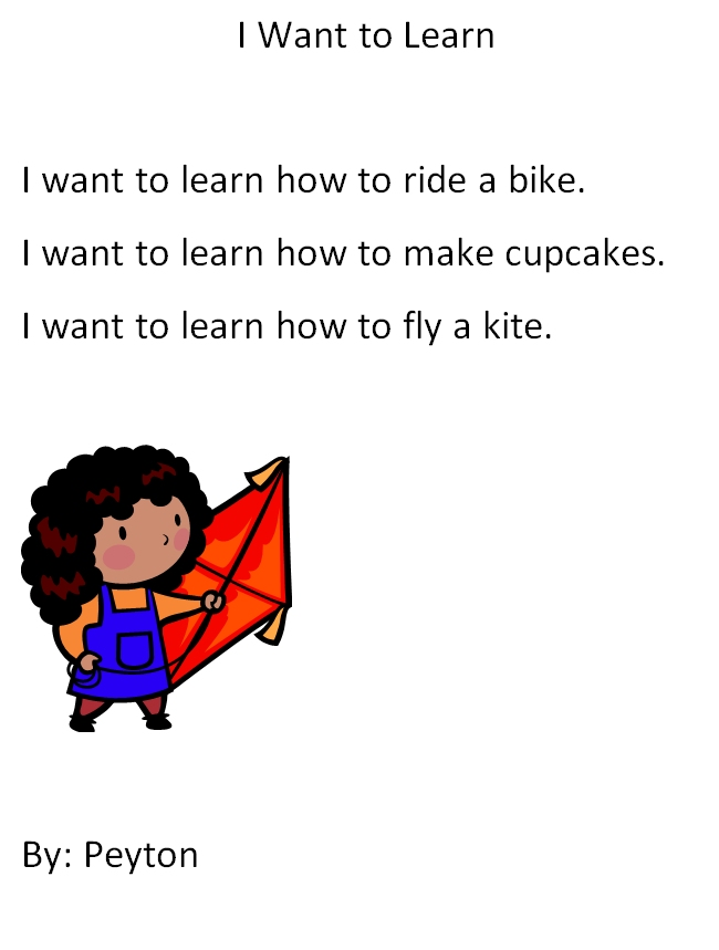 first grade personal narrative