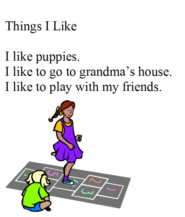 First Grade Personal Narrative - Things I Like | K-5