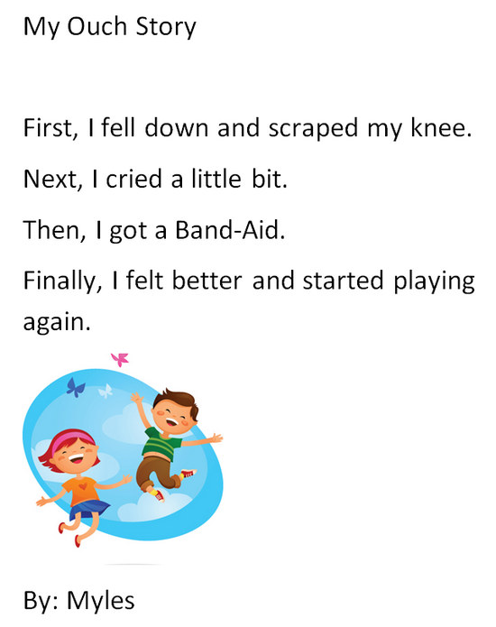 First Grade Narrative Writing - My Ouch Story | K-5 Computer Lab