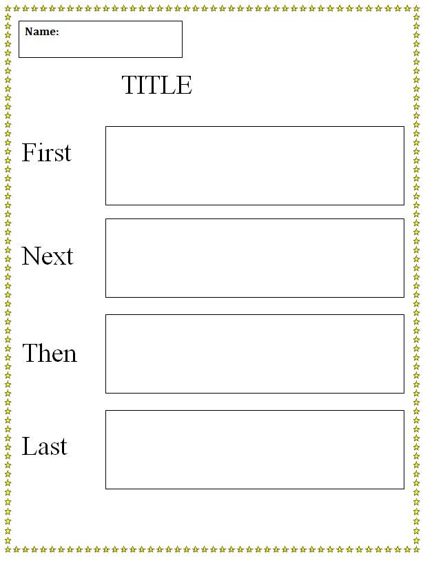 first next then last graphic organizer template