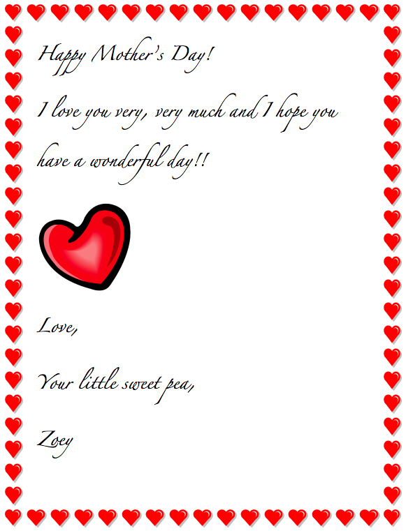 Happy Mother's / Father's Day Letter