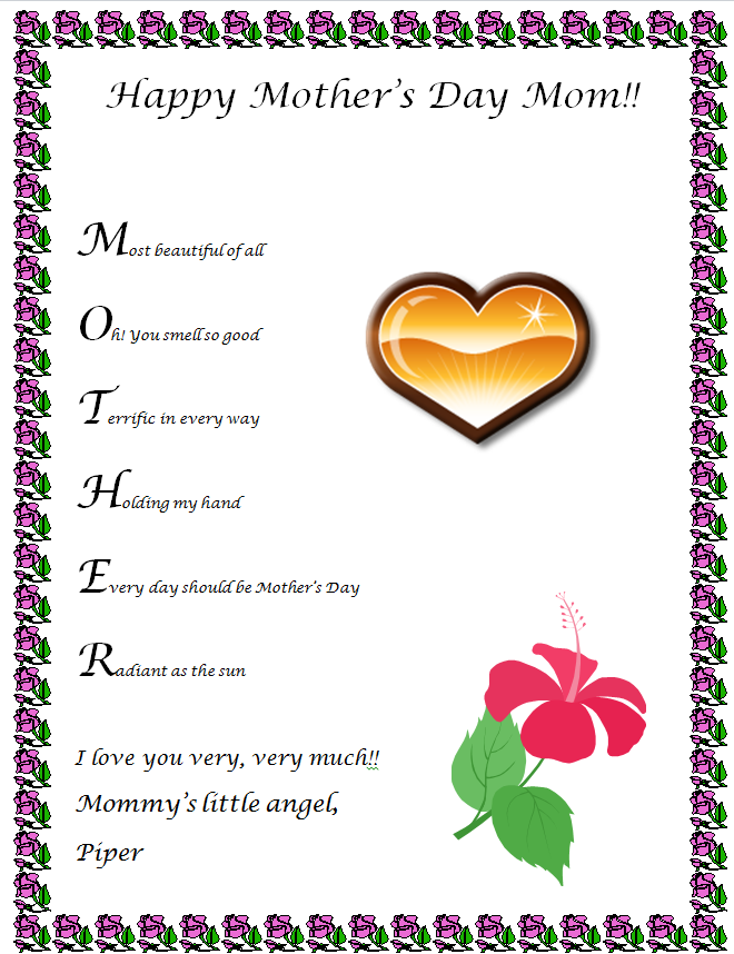 "... Results for ""Printable Flower Template For Poem"" – Calendar 2015"