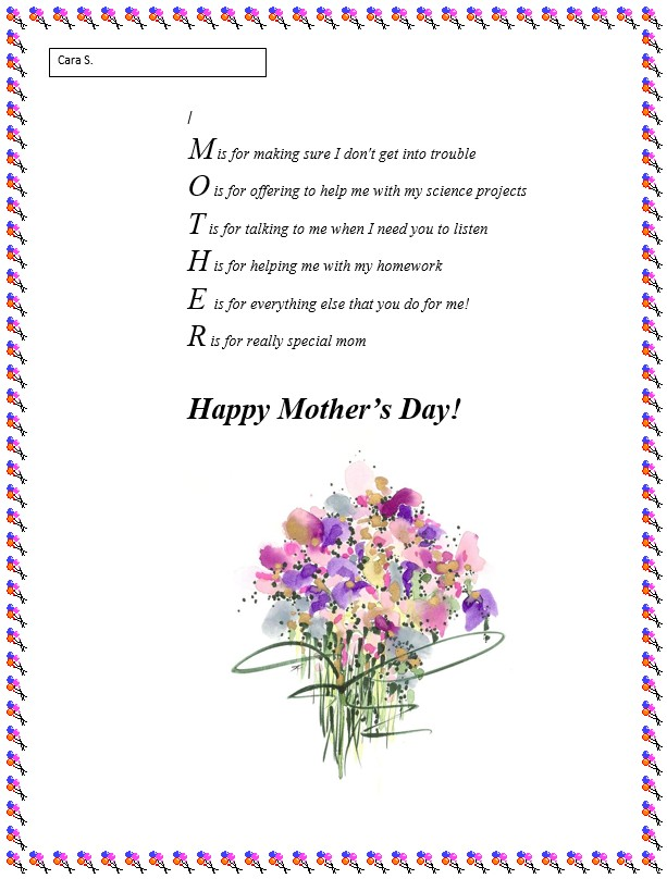how to write a mothers day poem Left it to the last minute and still can't come up with something deep and meaningful (or hilarious) to write in your mother's day card panic not, here are some poems and quotes that will put a smile on your mum's face this year stuck for what to say in your mother's day card here is some getty images.