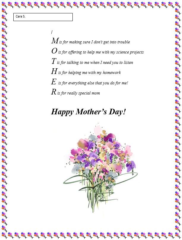 Mother S Day Poem Generator