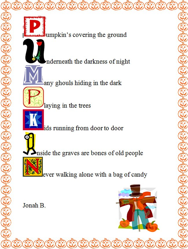 how to write an acrostic poem on microsoft word