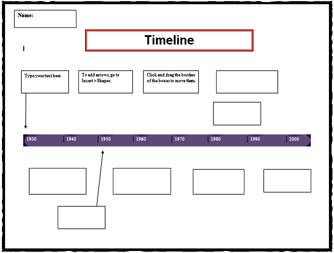 Timeline Template | K-5 Computer Lab Technology Lessons