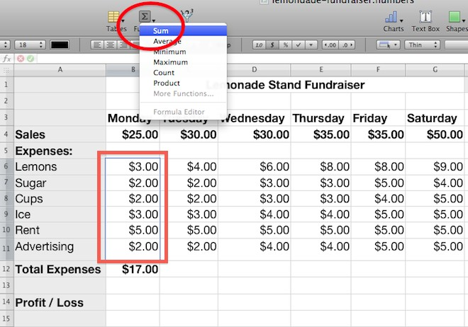how to calculate mean on excel mac