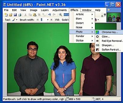 free online green screen photo editor