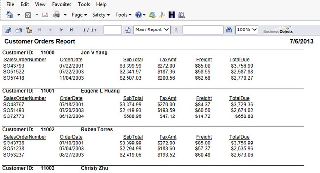Crystal Reports Subreports