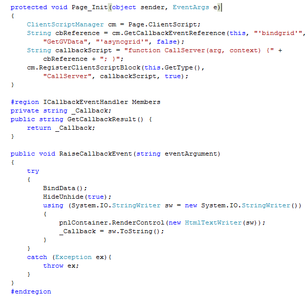 ASP  NET Asynchronous Page with Grid View
