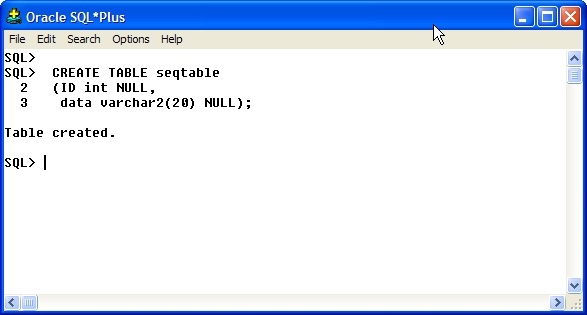 Oracle PL/SQL Sequences