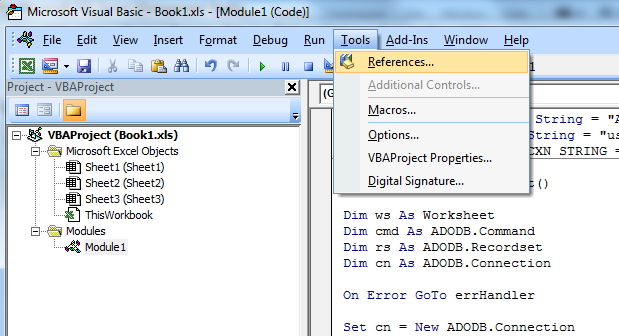 Using Excel with a Stored Procedure as Data Source