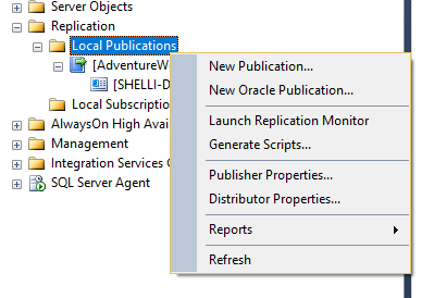 SQL Server Merge Replication