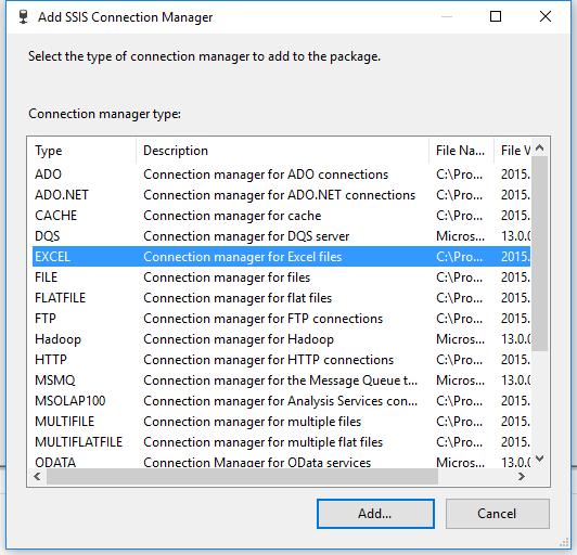 Programming SSIS Visual Studio 2015 Community MySQL Connection