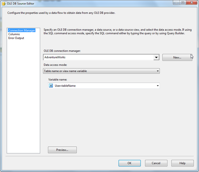 SSIS Data Transform Task from Access to Excel