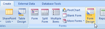 MS Access Unbound Forms and VBA