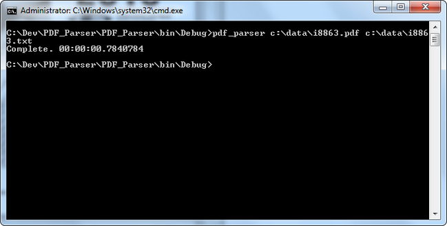 C# PDF to Text Converter Console Application