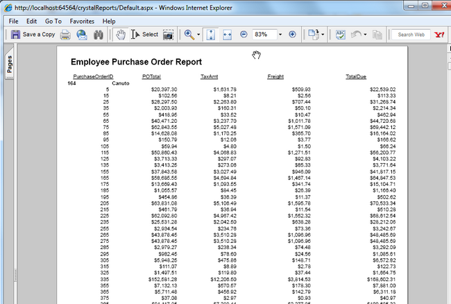 Crystal Reports - Exporting to Various Formats